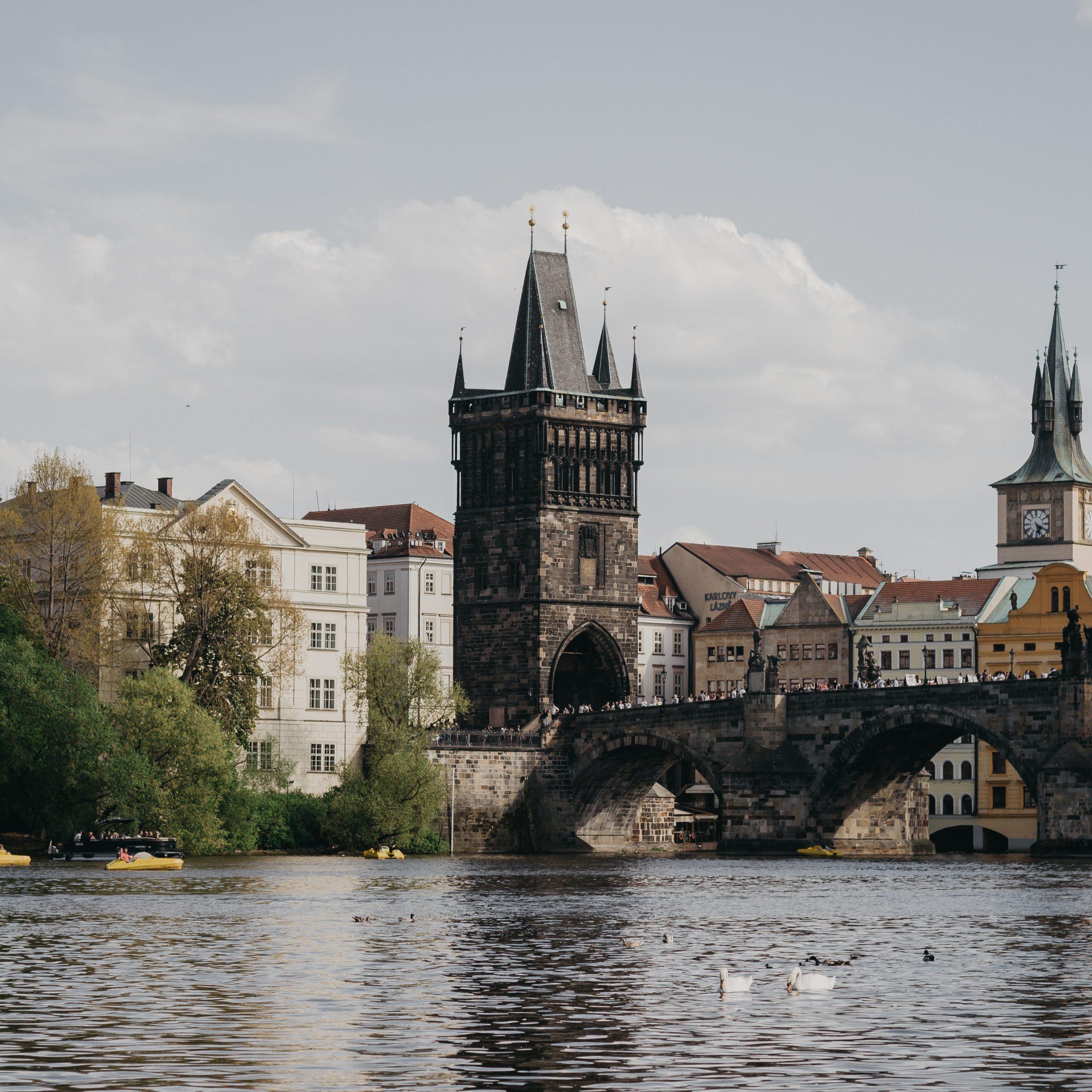 Vista di Ponte Carlo a Praga
