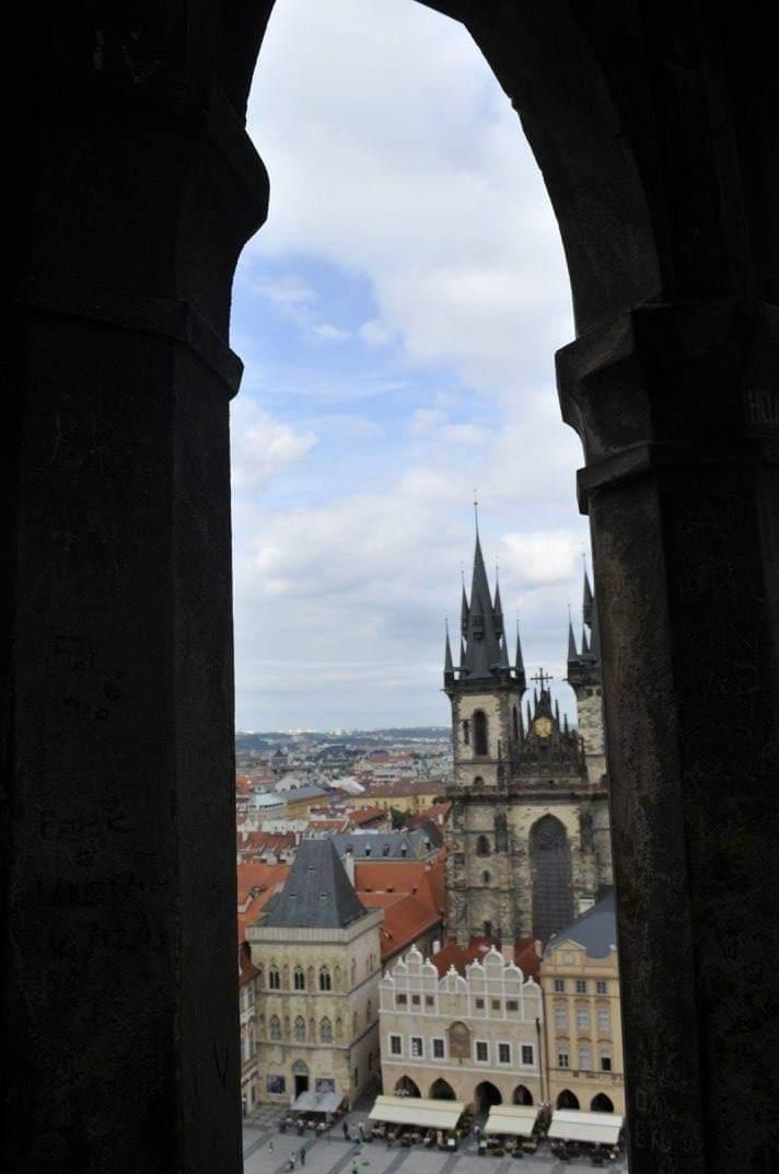 vista dalla Torre dell'orologio di Praga