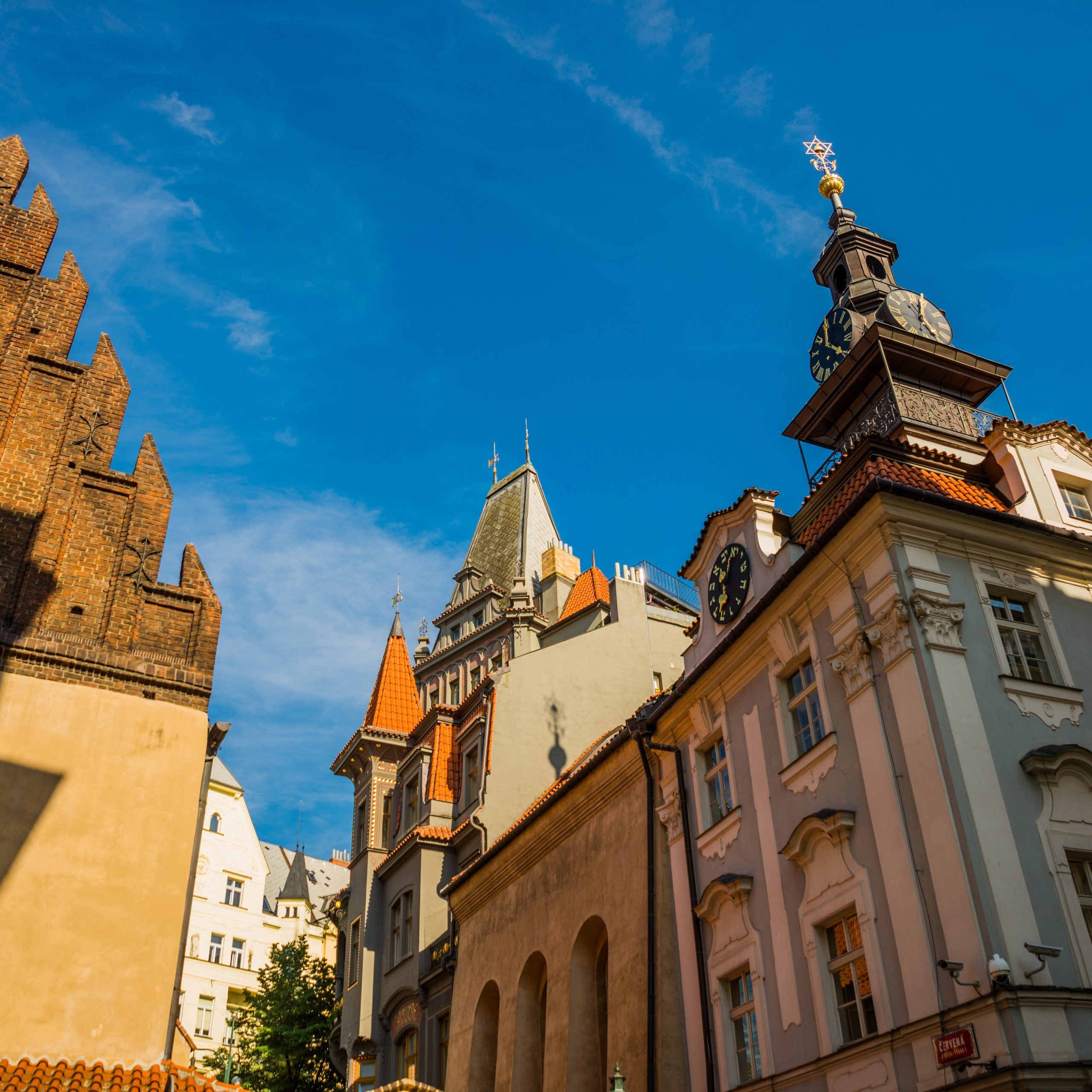 Sinagoga Staronova quartiere ebraico di Praga