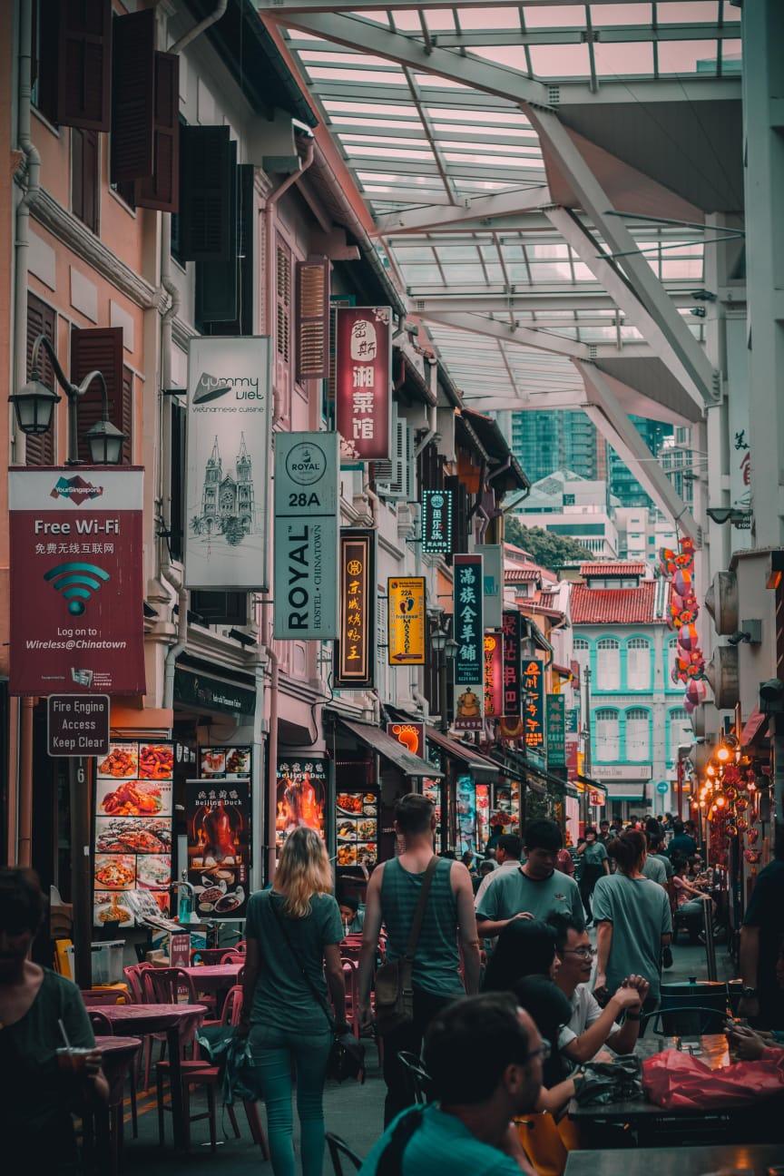 street market chinatown di Singapore